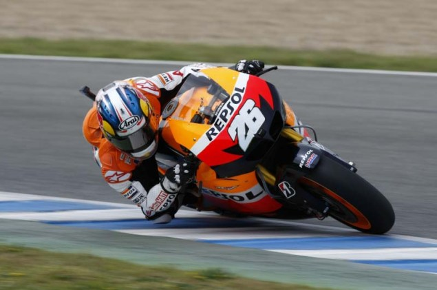 MotoGP: Testing at Jerez Provides Few Surprises HRC Jerez MotoGP test 2012 58 635x421