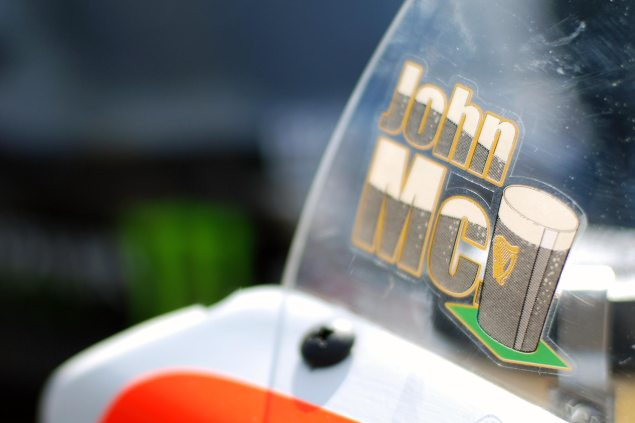 John McGuinness to Ride Mugen/Honda in TT Zero John McGuinness windscreen logo 635x423