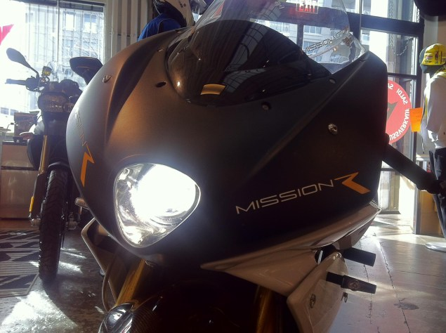 Mission R Spotted in Street Legal Trim Mission Motors Mission R headlight street legal 01 635x474