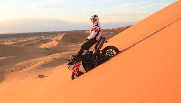 Yamahas 180hp Adventure Bike is Our Kind of Crazy Yamaha YZF R1 sand dunes 06 635x362