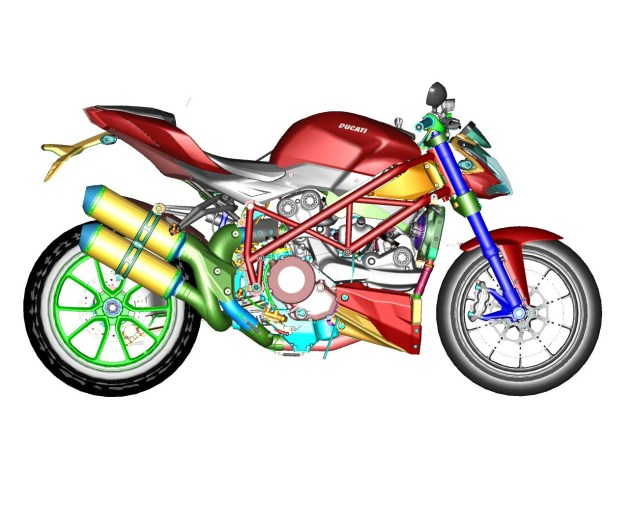 CAD Drawings of the Ducati Streetfighter 848 Ducati Streetfighter 848 CAD 15 635x506