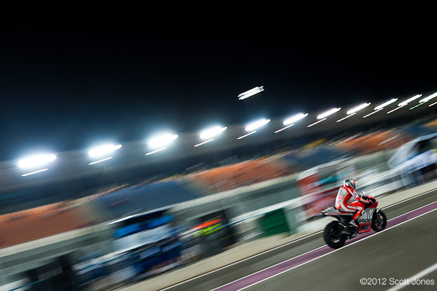 MotoGP: Saturday at Qatar Round Up: Of Cheshire Cat Smiles, Chatter, & the Italian Tragedy qatar gp 2012 scott jones Nick1