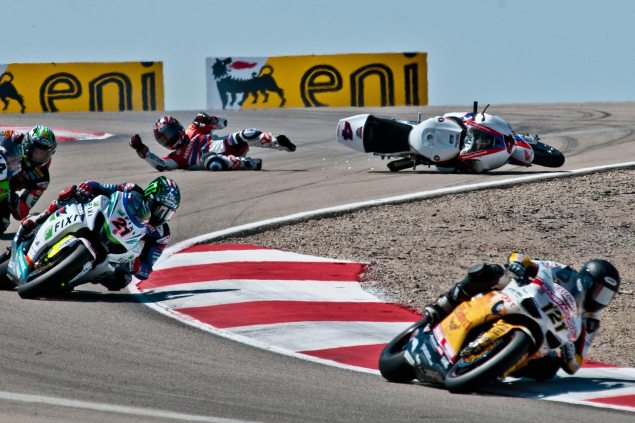 WSBK: Red Flags Mean Second Chances for Race 2 at MMP Hiroshi Aoyama crash WSBK MMP Ken Manfred 635x423