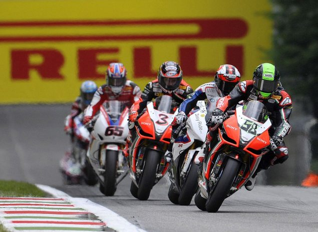 Pirelli Responds to Tire Troubles for WSBK at Monza Laverty Melandri Biaggi Rea Pirelli Monza WSBK color 635x463