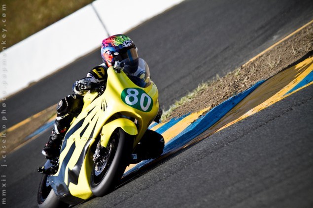 TTXGP: Barnes Takes Lightning to Pole Position During Qualifying, While Brammo Sends Another Steve to the Medic Lightning TTXGP 2012 Sears Point Popmonkey 2 635x423