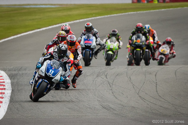 Sunday at Silverstone with Scott Jones  Ben leads Lap 1