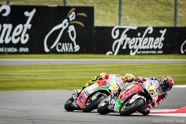 Sunday Summary at Silverstone: Of a British Hero, Tire Problems, and a Troubled Marriage Rossi Bradl1