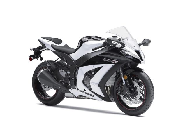 2013 Kawasaki Ninja ZX 10R Gets Adaptive Electronic Steering Damper   Welcome to 2004 Says Honda 2013 Kawasaki Ninja ZX 10R white black 635x476