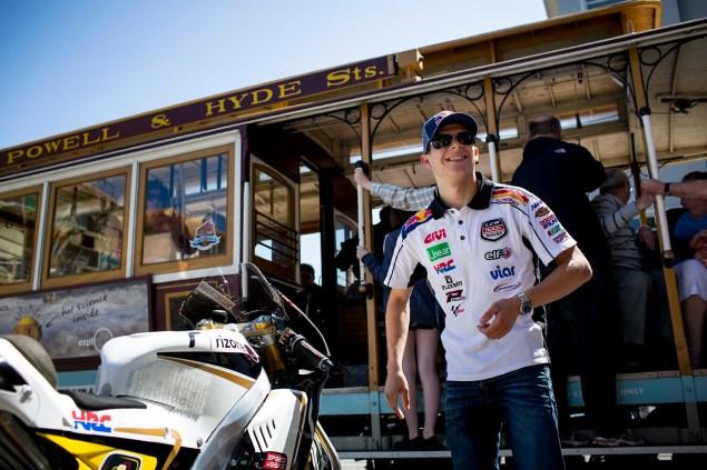 LCR Hondas Stefan Bradl Rides thru San Francisco LCR Honda Stefan Bradl San Francisco US GP 07 635x423