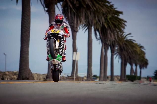 LCR Hondas Stefan Bradl Rides thru San Francisco LCR Honda Stefan Bradl San Francisco US GP 15 635x423