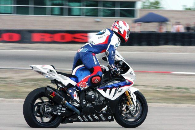 BMW Consolidates 2013 World Superbike Effort Leon Haslam flat tire Miller Motorsports Park 635x423