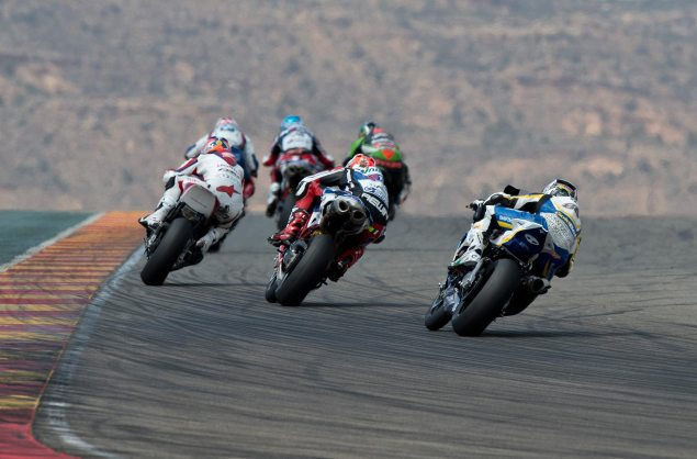 WSBK: Race 2 Makes it a Foursome at Aragon Race 2 Aragon WSBK 635x418