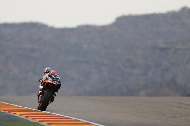Sunday Summary at Aragon: Of Bitter Rivalries, Exceptional Bravery, & Nicky Haydens Bizarre Crash Dani Pedrosa Repsol Honda Aragon MotoGP 635x421