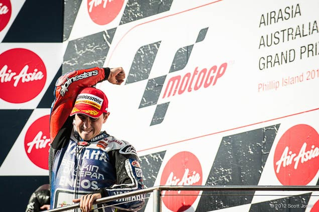 Jorge Lorenzo is the 2012 MotoGP World Champion Jorge Lorenzo MotoGP World Champion