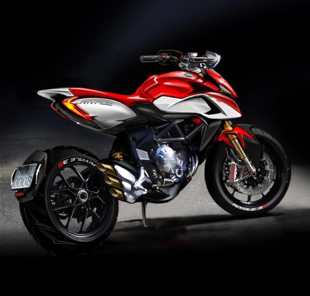 Official Sketch of the MV Agusta Rivale MV Agusta Rivale sketch 635x606