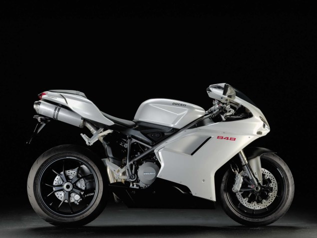 A Quarter Century of Ducati Superbikes in Photos 2008 Ducati Superbike 848 white 635x476