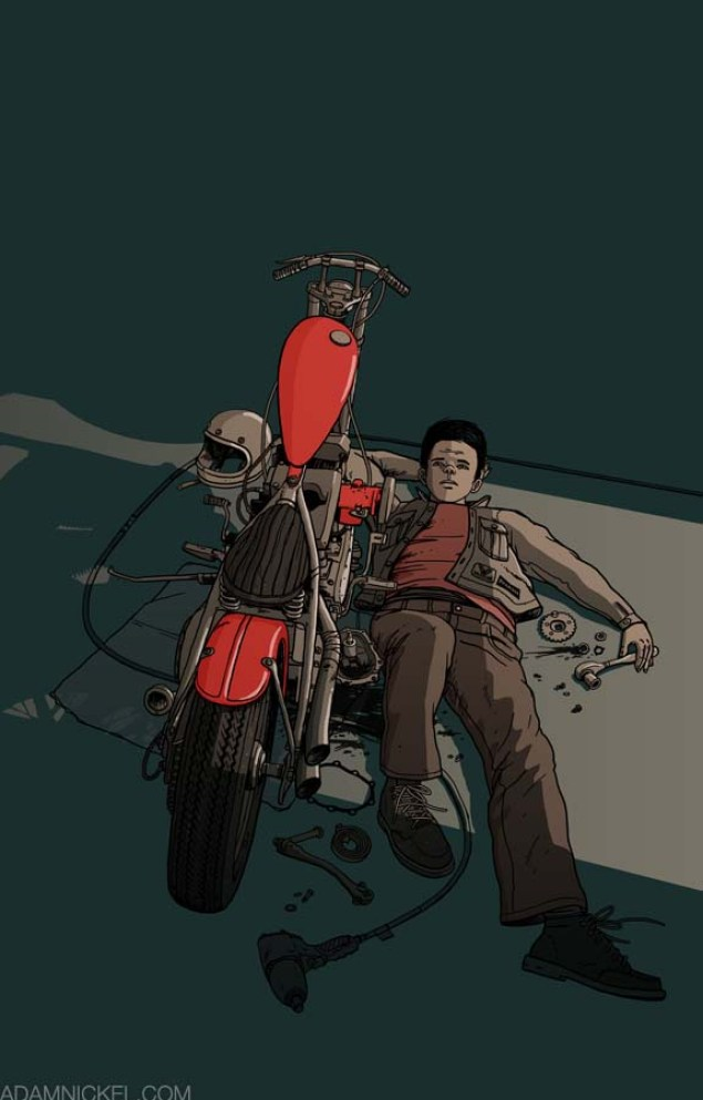 Motorcycle Art by Adam Nickel Adam Nickel motorcycle art defeat