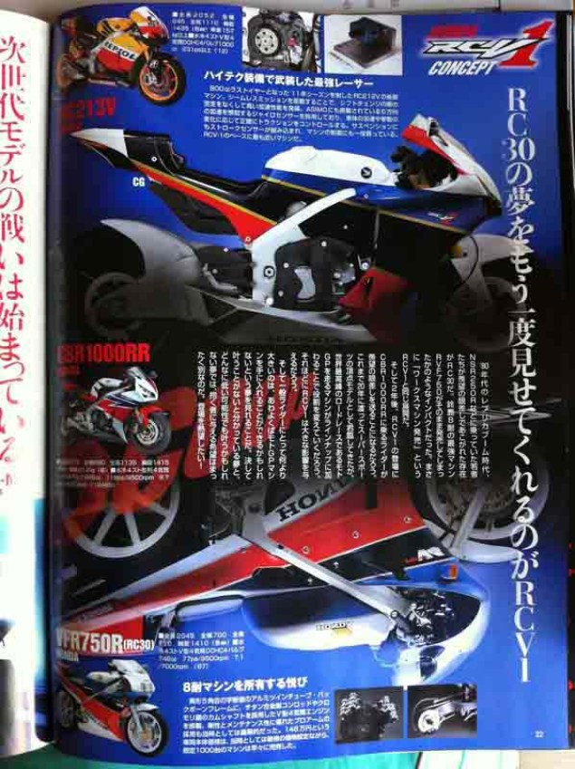 Are You The Honda V4 Street Bike? Probably Not Honda RCV1 Young Machine 01