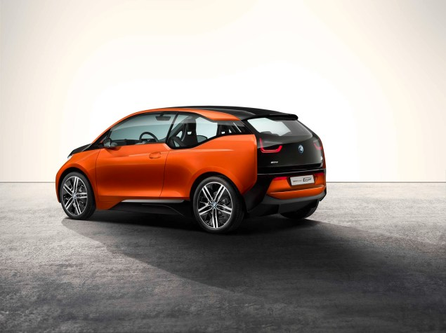 Brain Teaser: The BMW i3 Electric Car Will Have an Optional Gas Powered Motorcycle Engine in It BMW i3 concept 05 635x475