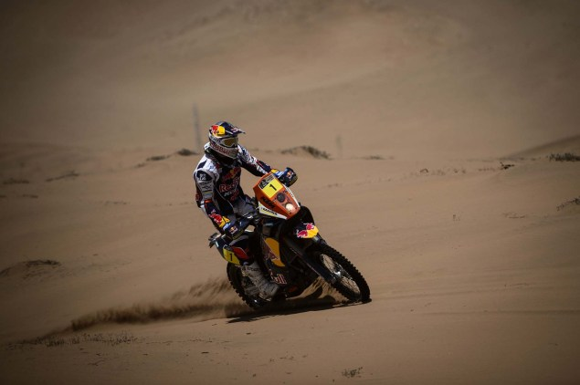 Cyril Despres Claims Fifth Dakar Rally Win Cyril Despres KTM 2013 Dakar Rally 01 635x422