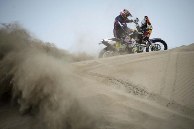 Dakar Rally   Stage 7: American Kurt Caselli Takes First Win Kurt Caselli KTM 2013 Dakar Rally 06 635x422