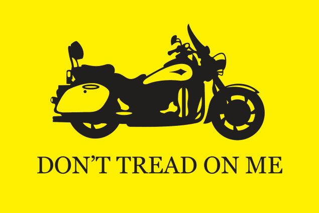 Have You Signed the Petition to Stop the Funding of Motorcycle Only Checkpoints Yet? dont tread on me motorcycle1 635x423