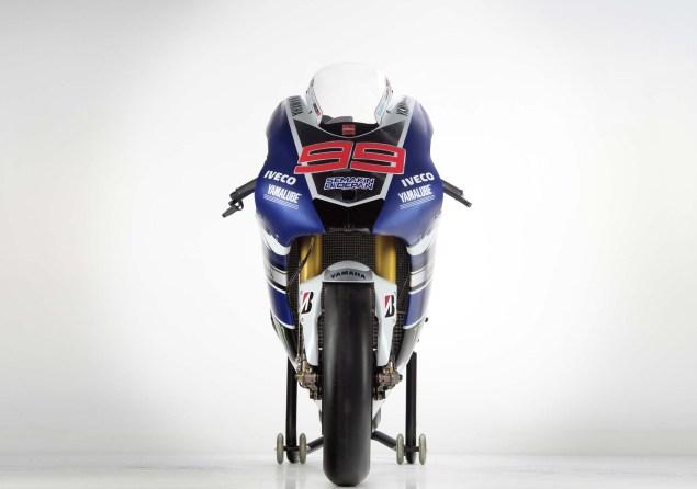 Rossi, Lorenzo, and the 2013 Yamaha YZR M1 2013 Yamaha YZR M1 Jorge Lorenzo Valentino Rossi 14 635x446