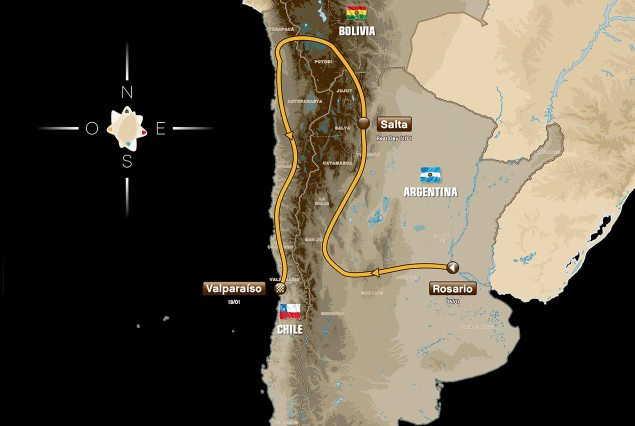 2014 Dakar Rally Route Replaces Peru with Bolivia 2014 dakar rally route map 635x426