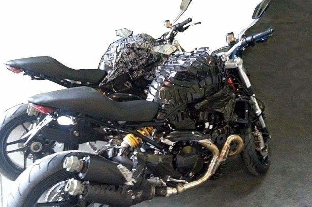 Spy Shots: A New Water Cooled 1198cc Ducati Monster? 2014 ducati monster 1198 water cooled spy photo 02