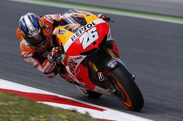 Saturday Summary at Catalunya: Pedrosas Scorcher, Lorenzos Engines, & Vinaless Penalties dani pedrosa motogp catalunya hrc