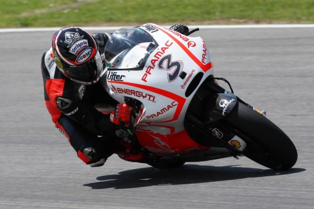 MotoGP: Ducati Test Cut Short by Rain, Biaggi Posts 152.1 max biaggi pramac ducati mugello test