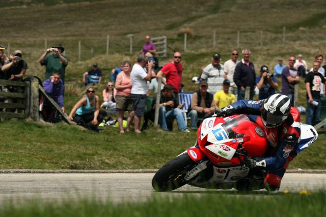 IOMTT: Dunlop Eyes 130 MPH Lap...On a Supersport michael dunlop isle of man tt supersport bungalow richard mushet1 635x423