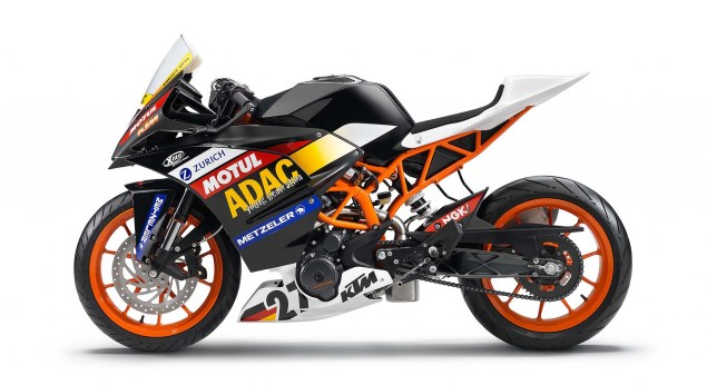 2014 KTM RC390 Cup   A Glimpse of Whats to Come 2014 KTM RC390 race bike unveil 14 635x346