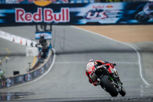 Saturday Summary at Laguna Seca: Of Surprise Front Rows, Record Books, & Qualifying Shake Ups Stefan Bradl Pole position MotoGP Laguna Seca Scott Jones 635x423