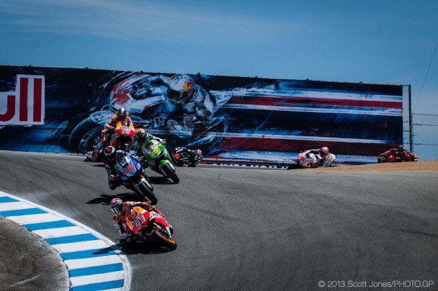 Provisional 2014 MotoGP Calendar Released: 19 Races, Brazil Questionable, & Laguna Seca Out Sunday Laguna Seca US GP MotoGP Scott Jones 07 635x423