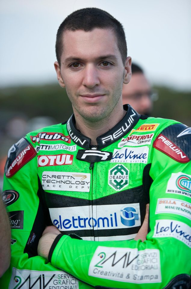 Andrea Antonelli Dies During World Supersport Race   Second WSBK Race & Other Events Cancelled andrea antonelli world supersport 635x961