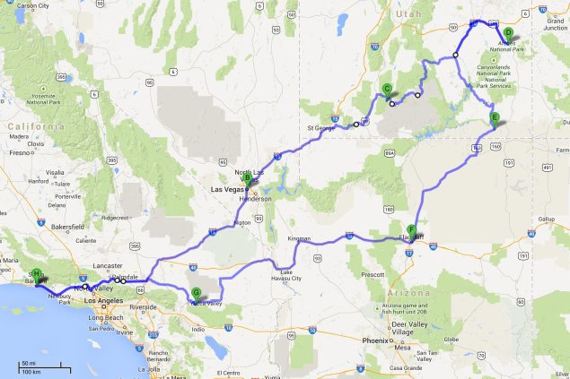 A&R Broventure 2013: The Moab Expedition broventure map 635x423