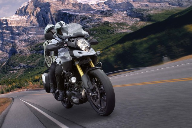 58 Hi Res Photos of the 2014 Suzuki V Strom 1000 2014 Suzuki V Strom 1000 action 08 635x423