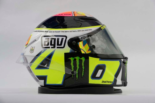 Photos: Valentino Rossis Pink Floyd Helmet at Misano Valentino Rossi Misano Helmet wish you were here 09