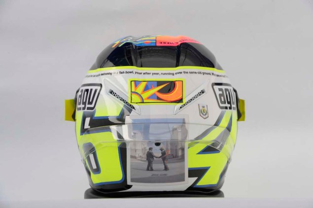 Photos: Valentino Rossis Pink Floyd Helmet at Misano Valentino Rossi Misano Helmet wish you were here 11