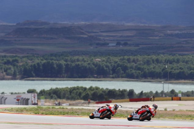 MotoGP: Race Results from the Aragon GP marc marquez dani pedrosa repsol honda motogp