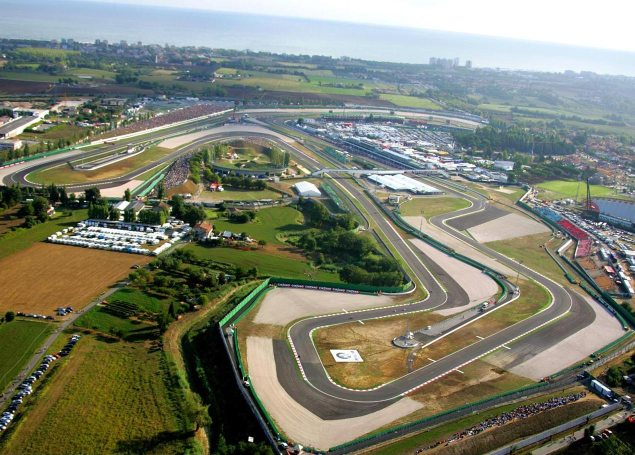 Thursday Summary at Misano: At a Yamaha Track, Ducatis Test Bonus, & The Redding and Crew Chief Merry go round misano san marino gp track 635x455