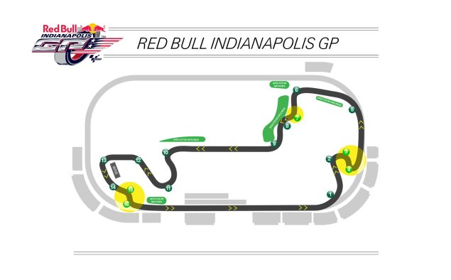 Heres the New Configuration of the Indianapolis Motor Speedways Infield Track for MotoGP 2014 indianapolis motor speedway motogp infield track map 635x394