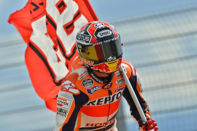 MotoGP: Marc Marquez Given One Penalty Point for Aragon Incident, Honda Docked Championship Points marc marquez repsol honda motogp 635x423