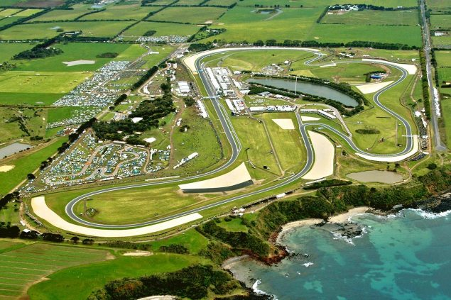 Thursday Summary at Phillip Island: Racing for Pride, The Battle for Moto2, & Crew Chief Changes phillip island circuit aerial view 635x423