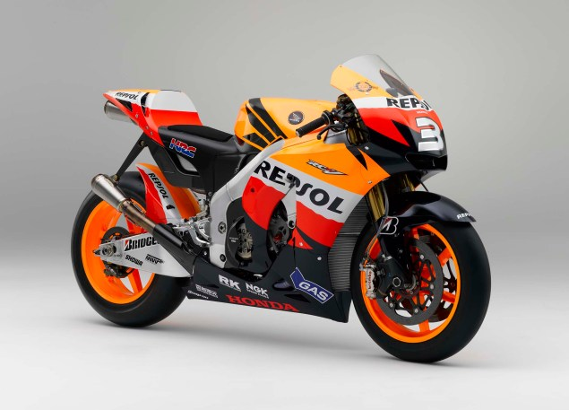 The Lineage of Hondas Grand Prix Motorcycles 2009 Honda RC212V Dani Pedrosa 635x457