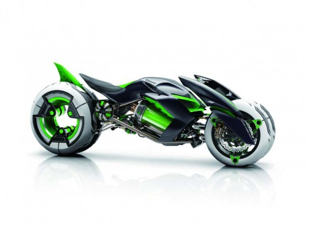Kawasaki J Concept   A Green Outlook on the Future Kawasaki J Concept 03