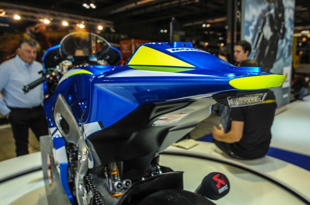 Up Close with the Suzuki XRH 1 MotoGP Race Bike Suzuki MotoGP race bike EICMA 16 635x421