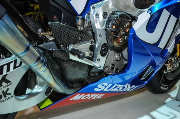 Up Close with the Suzuki XRH 1 MotoGP Race Bike Suzuki MotoGP race bike EICMA 20 635x421