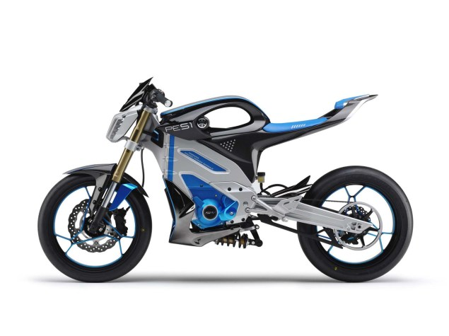 Looks Like the Yamaha PES1 Electric Street Bike Is a Runner Yamaha PES1 electric concept 02 635x475
